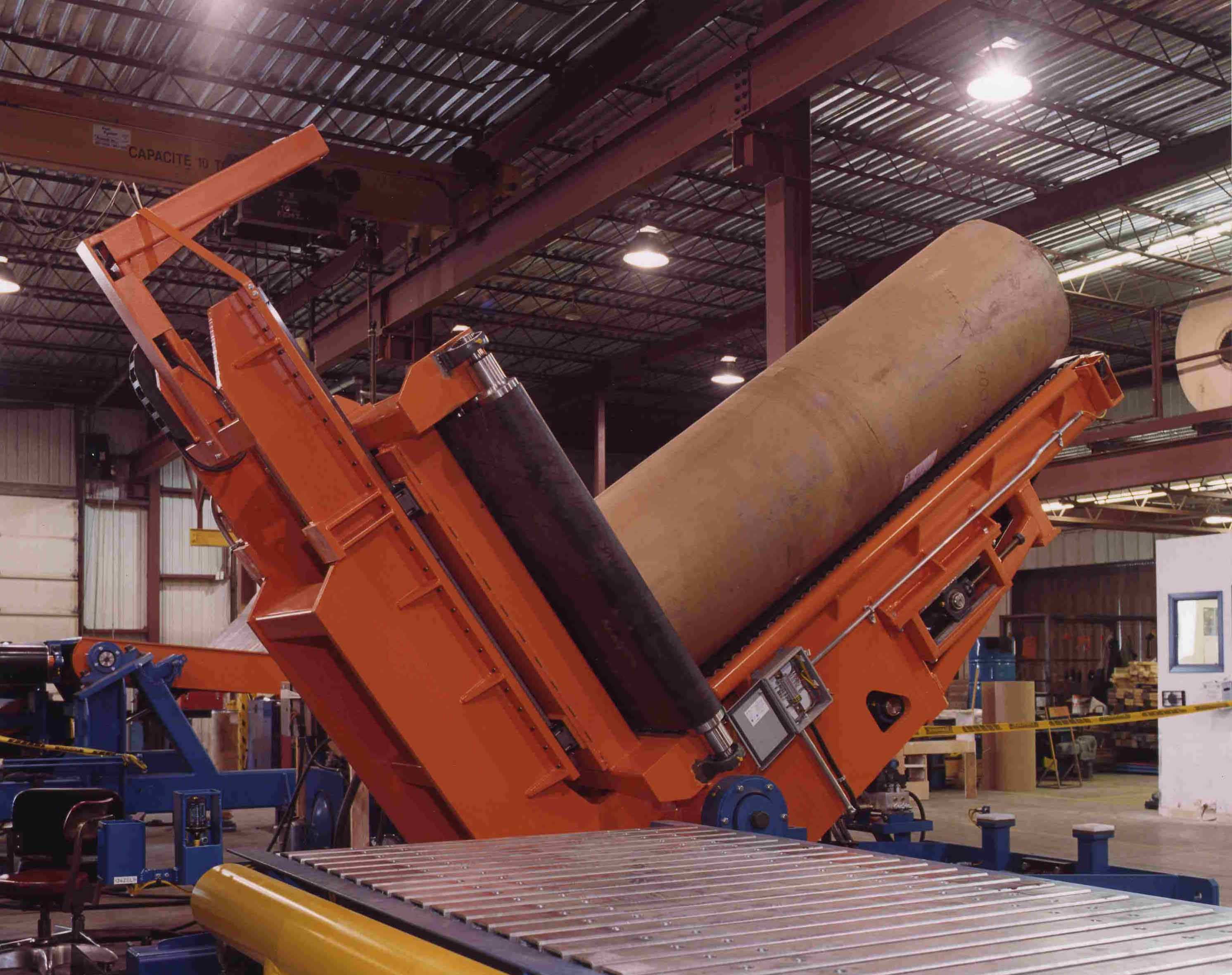paper - roll handing - conveying systems - upender (2)