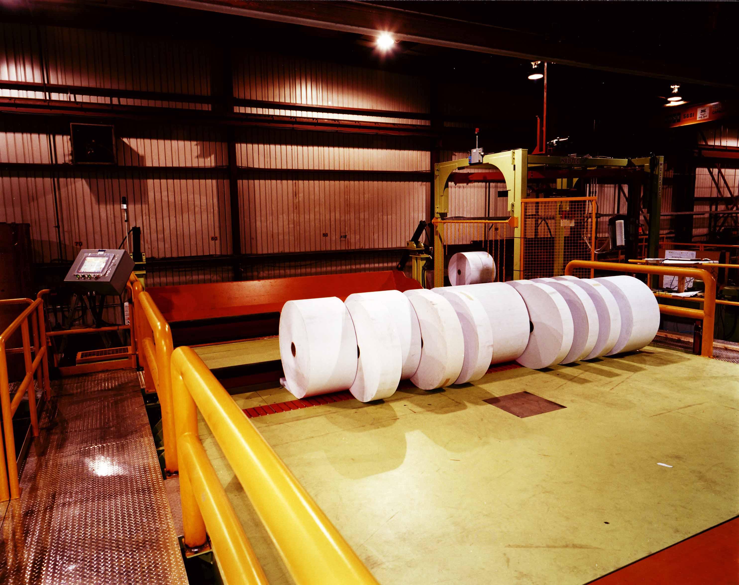 paper - roll handing - winder deck