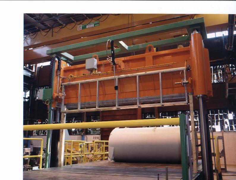 paper - roll handling - conveying systems - roll splitter guillotine (1)