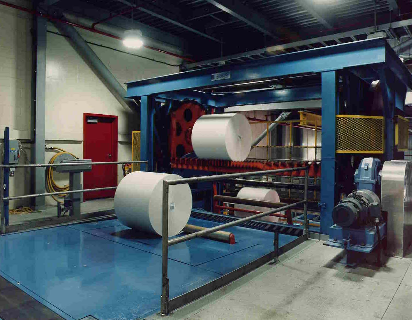 paper - roll handling - conveying systems - stop and elevator